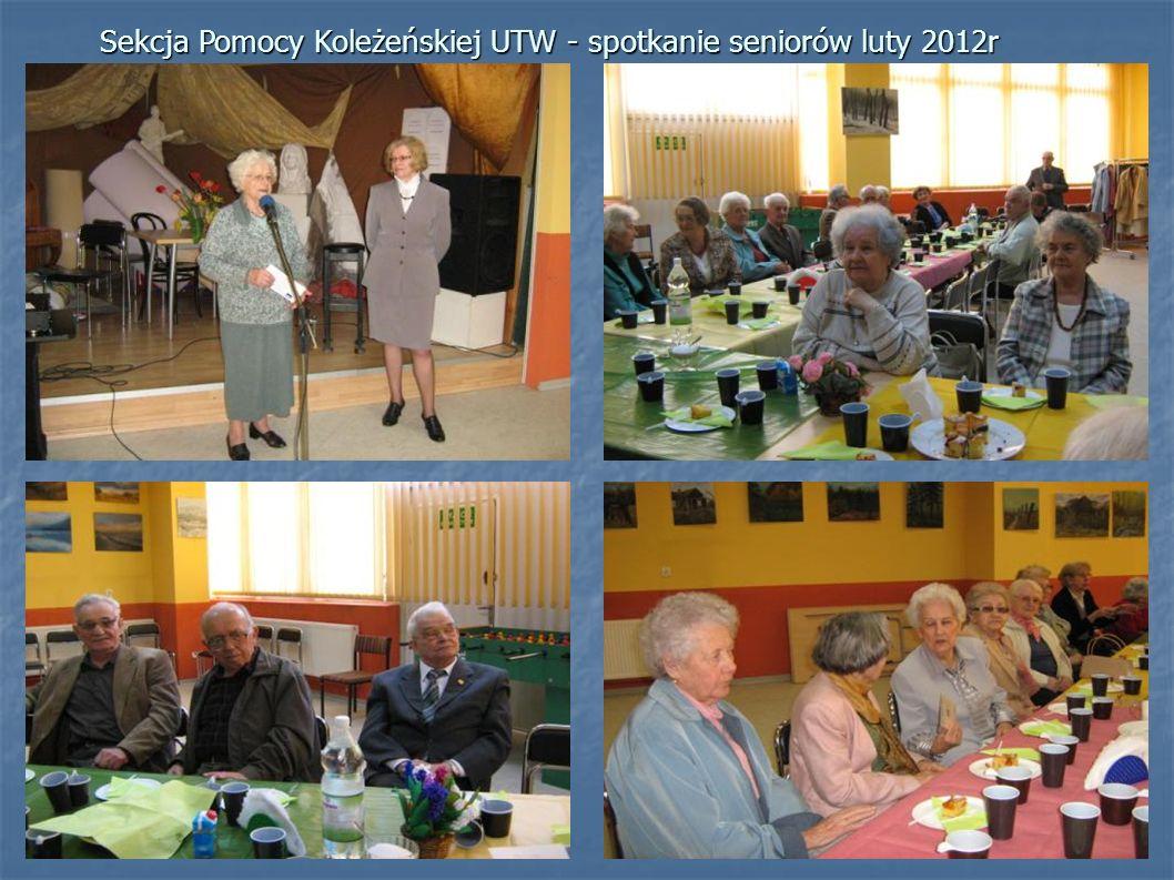 Sekcja Pomocy Koleżeńskiej UTW - spotkanie seniorów luty 2012r