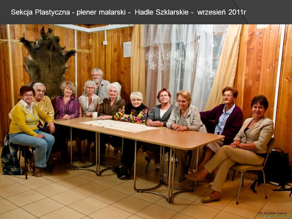 Sekcja Plastyczna - plener malarski - Hadle Szklarskie - wrzesień 2011r