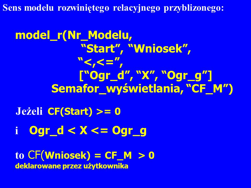 model_r(Nr_Modelu, Start , Wniosek , <,<= ,