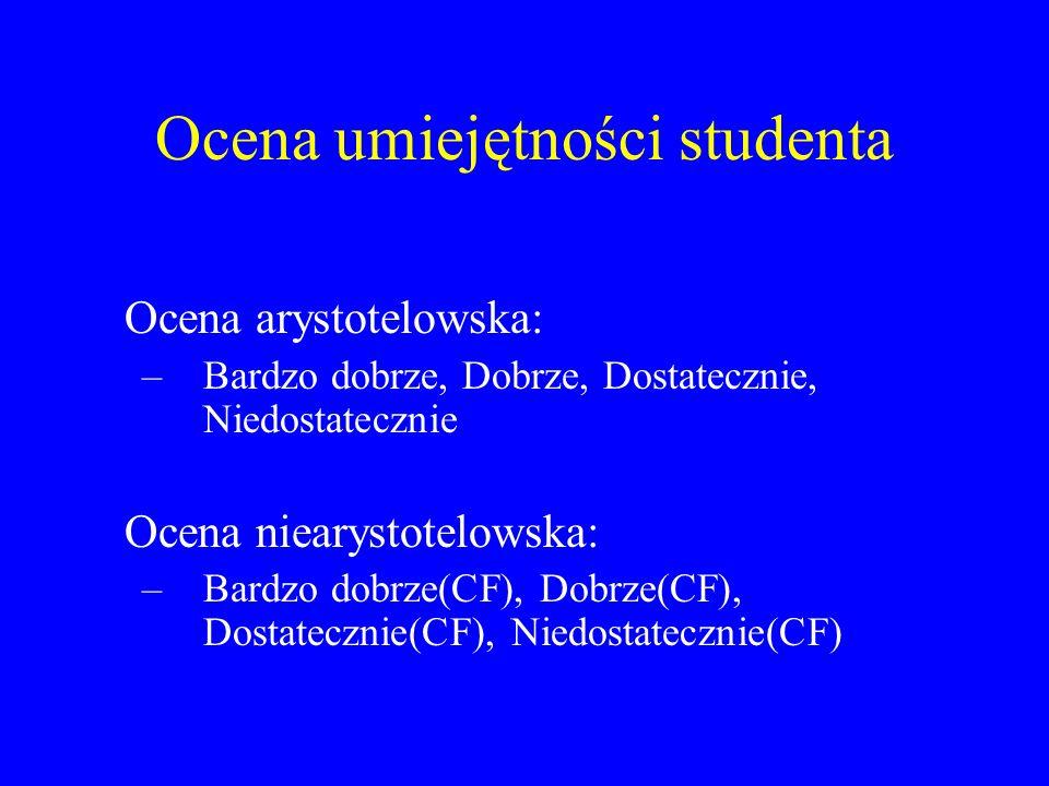 Ocena umiejętności studenta