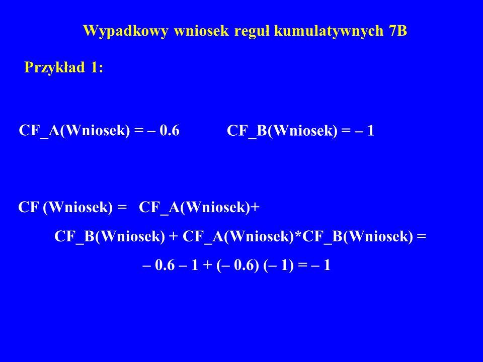 Wypadkowy wniosek reguł kumulatywnych 7B