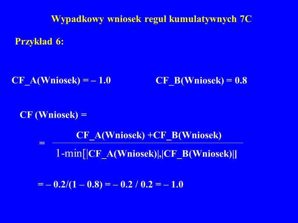 Wypadkowy wniosek reguł kumulatywnych 7C