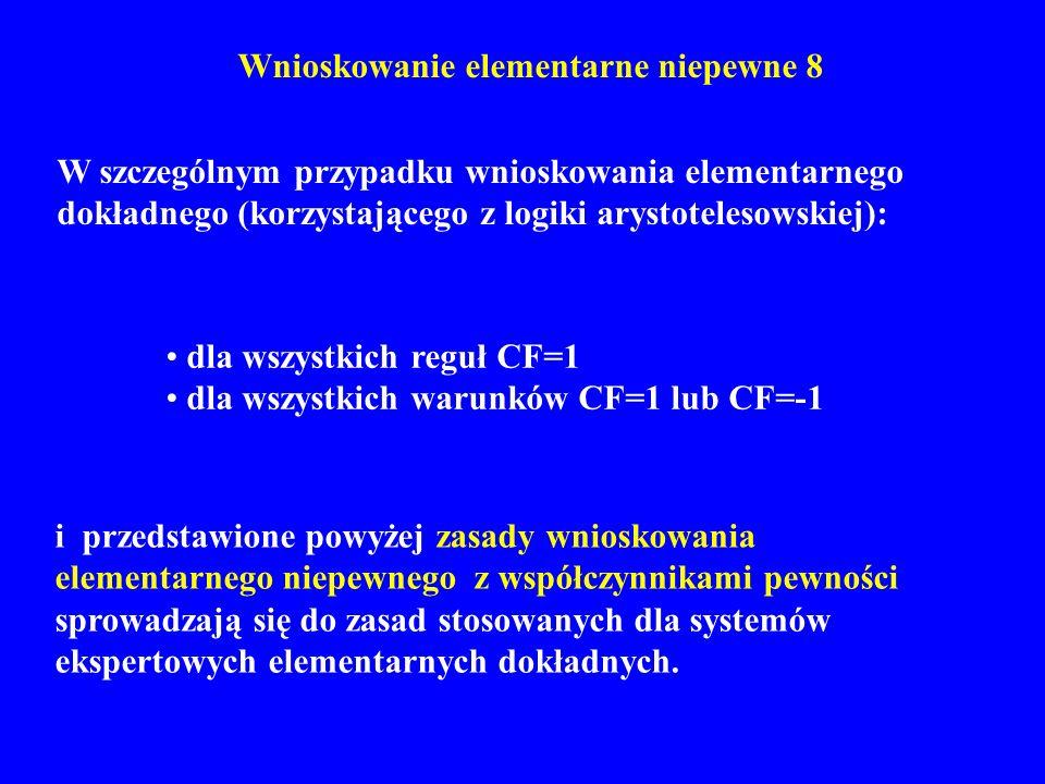 Wnioskowanie elementarne niepewne 8