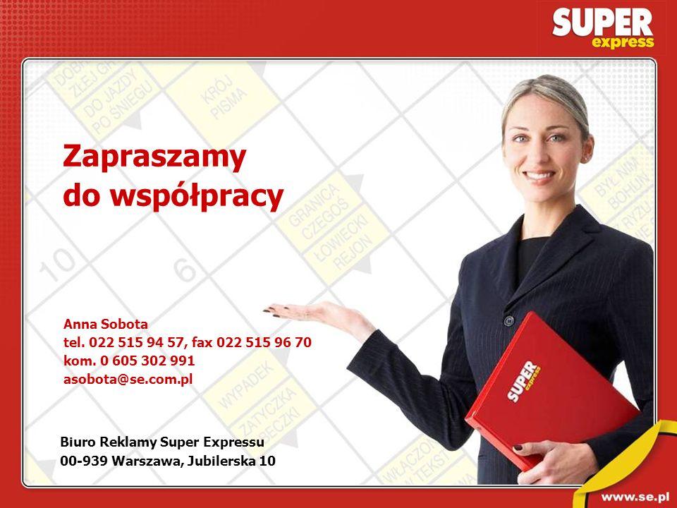 Zapraszamy do współpracy Anna Sobota