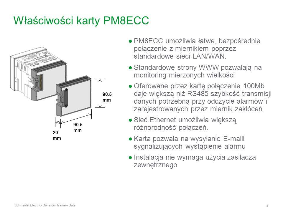 Właściwości karty PM8ECC