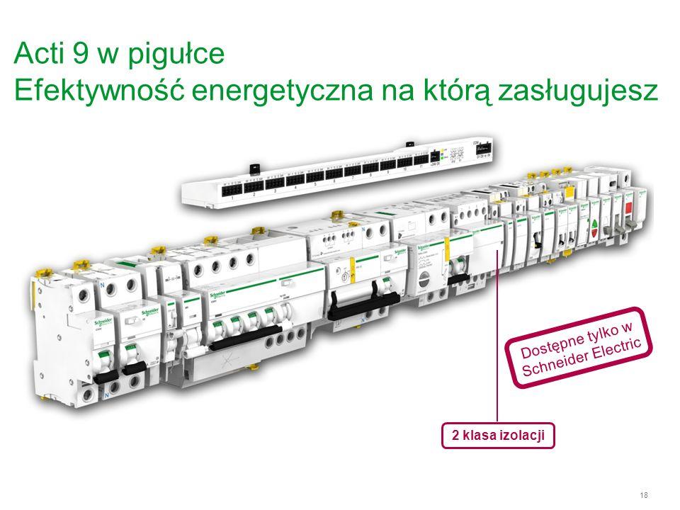 Acti 9 w pigułce Efektywność energetyczna na którą zasługujesz