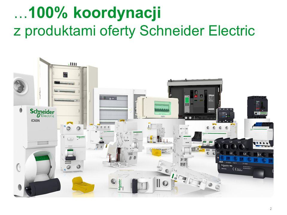 …100% koordynacji z produktami oferty Schneider Electric