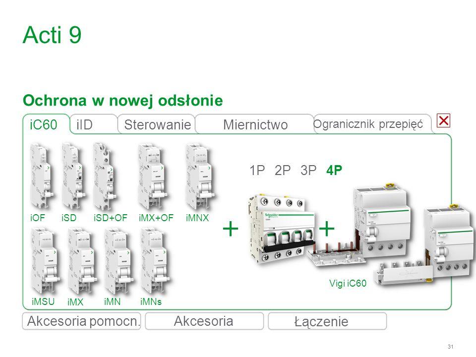 Acti 9 Ochrona w nowej odsłonie iC60 iID Sterowanie Miernictwo 1P 2P