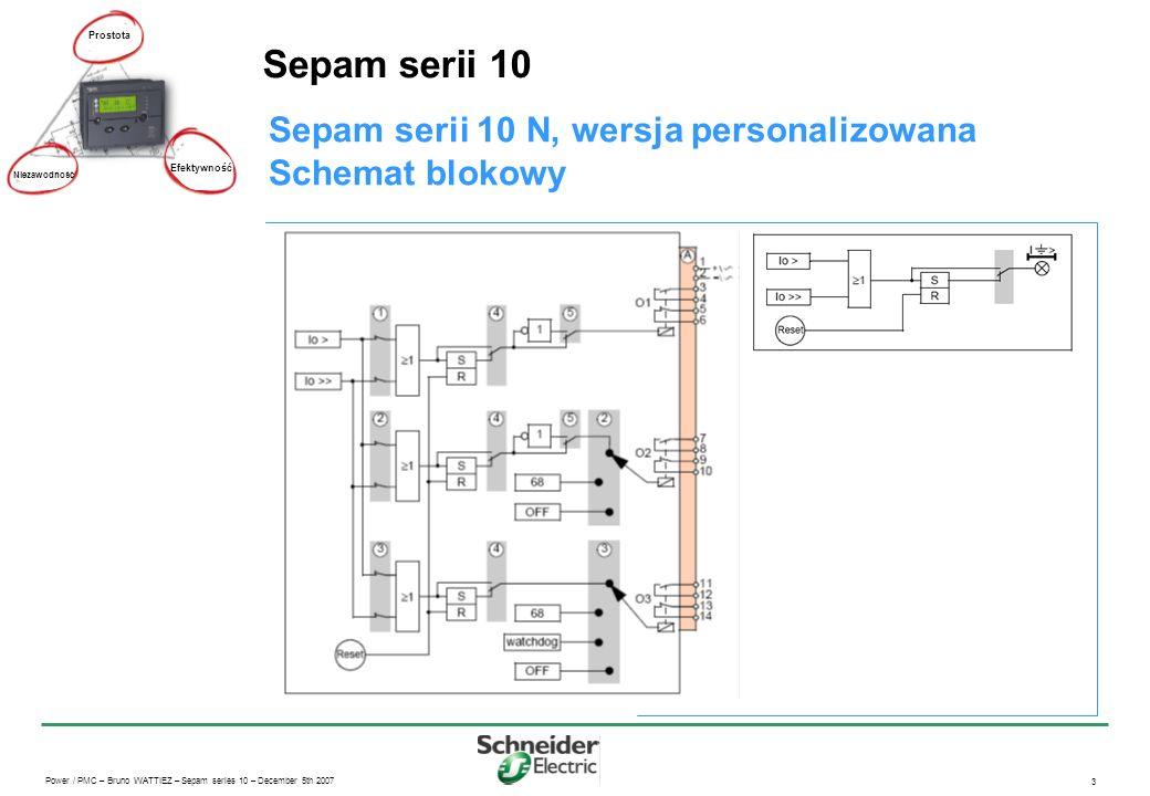 Sepam serii 10 Sepam serii 10 N, wersja personalizowana