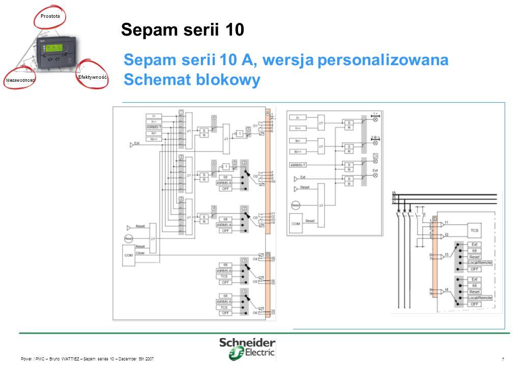Sepam serii 10 Sepam serii 10 A, wersja personalizowana
