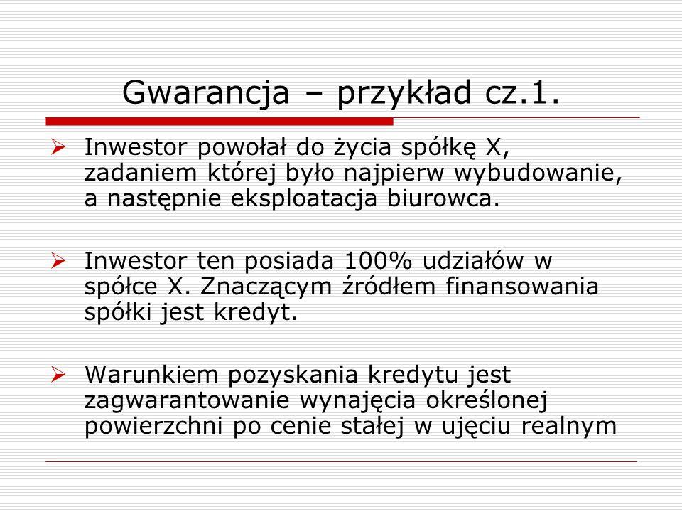 Gwarancja – przykład cz.1.