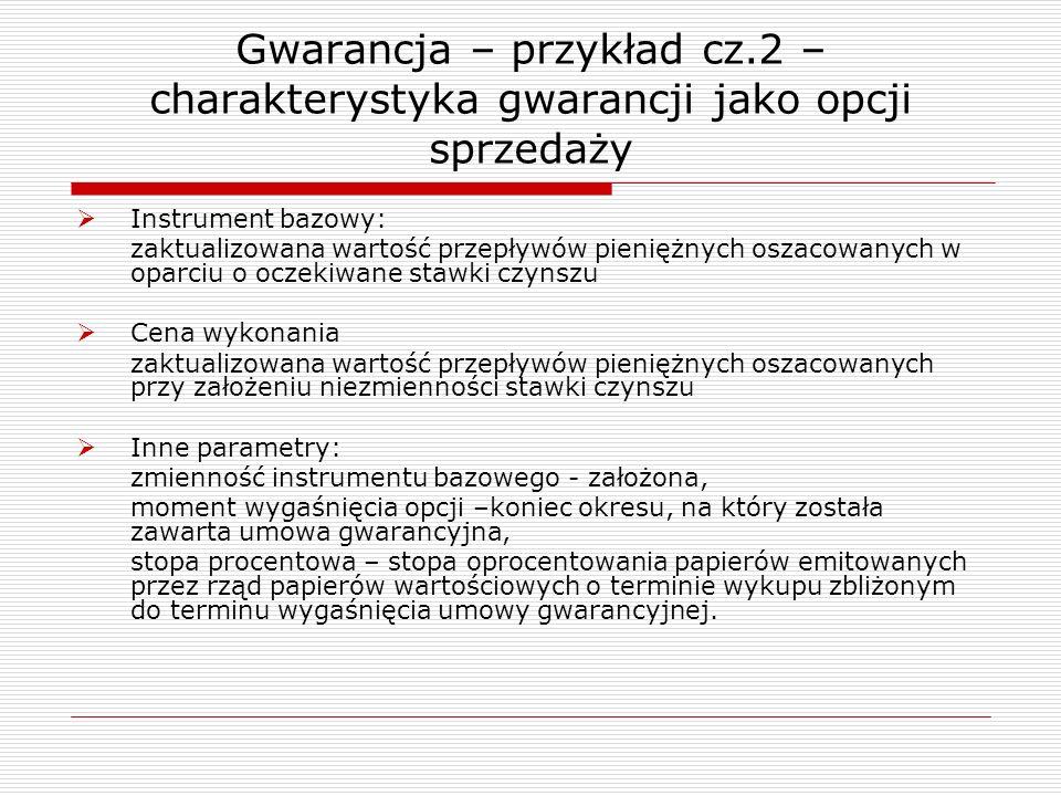 Gwarancja – przykład cz