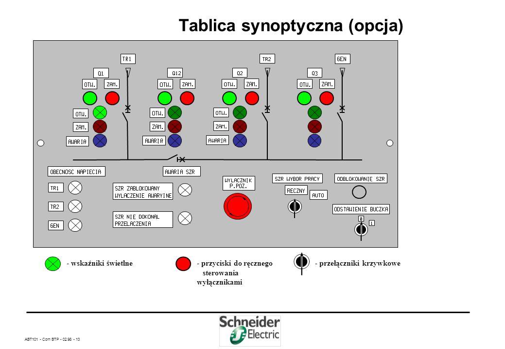 Tablica synoptyczna (opcja)