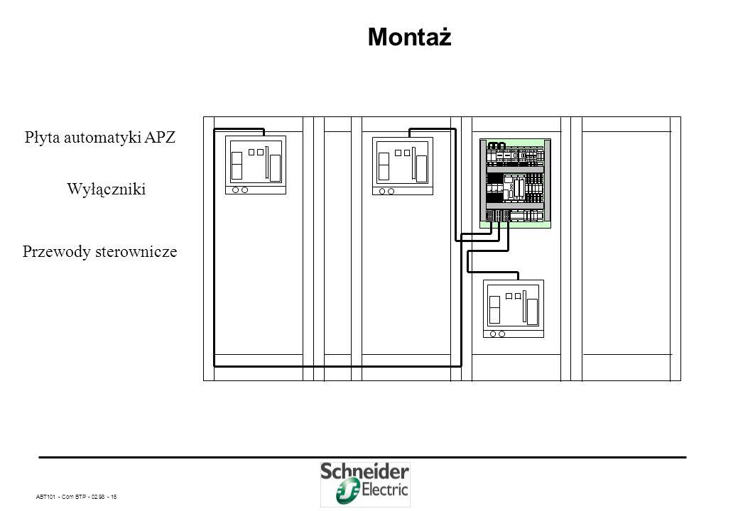 Montaż Płyta automatyki APZ Wyłączniki Przewody sterownicze