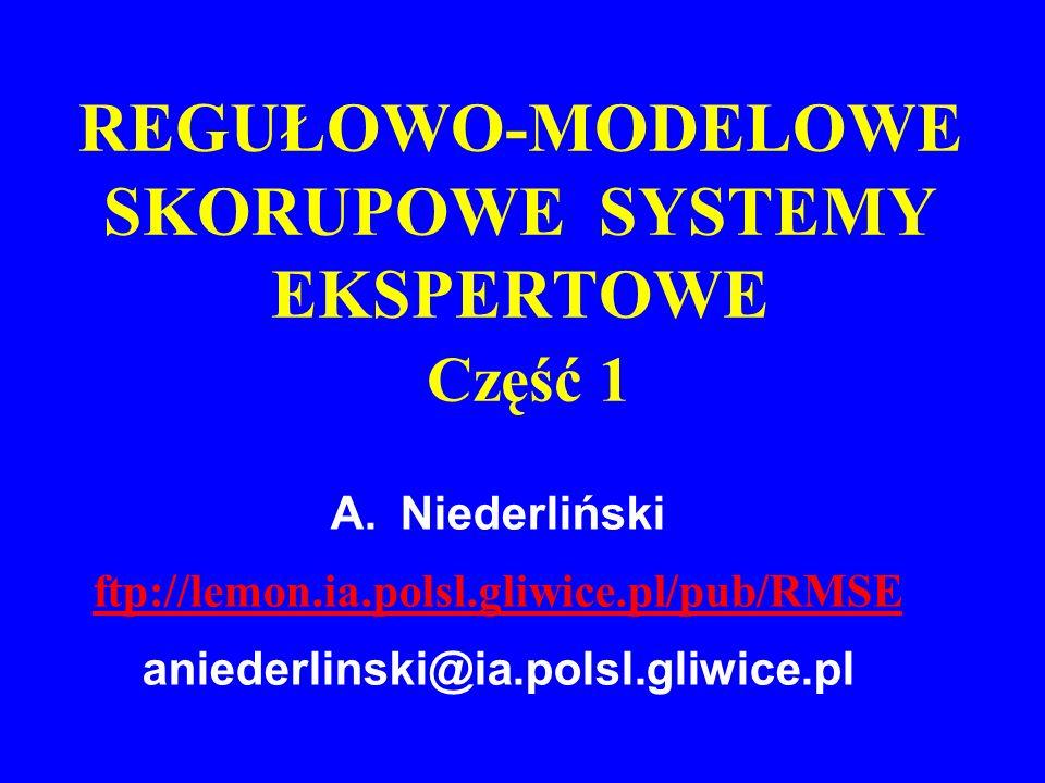 REGUŁOWO-MODELOWE SKORUPOWE SYSTEMY EKSPERTOWE Część 1
