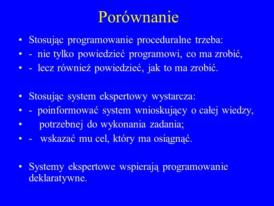 Porównanie Stosując programowanie proceduralne trzeba: