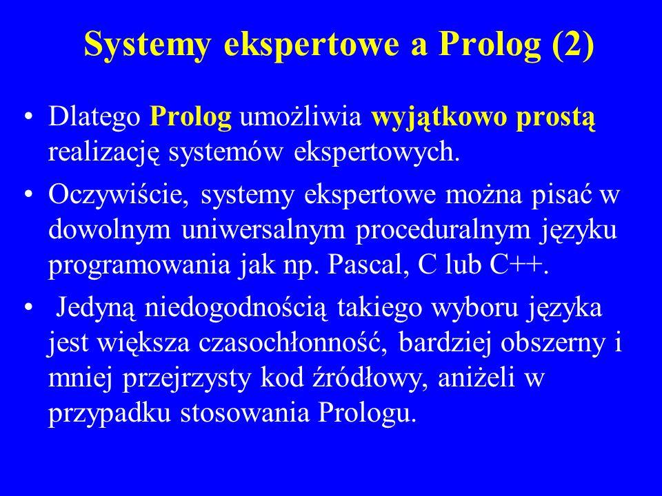 Systemy ekspertowe a Prolog (2)