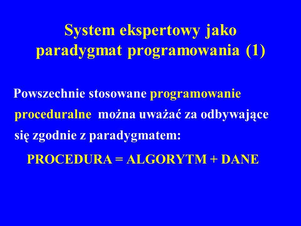 System ekspertowy jako paradygmat programowania (1)