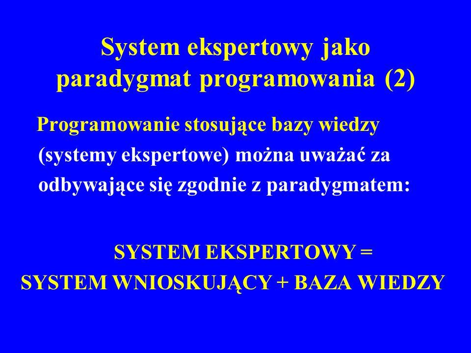 System ekspertowy jako paradygmat programowania (2)