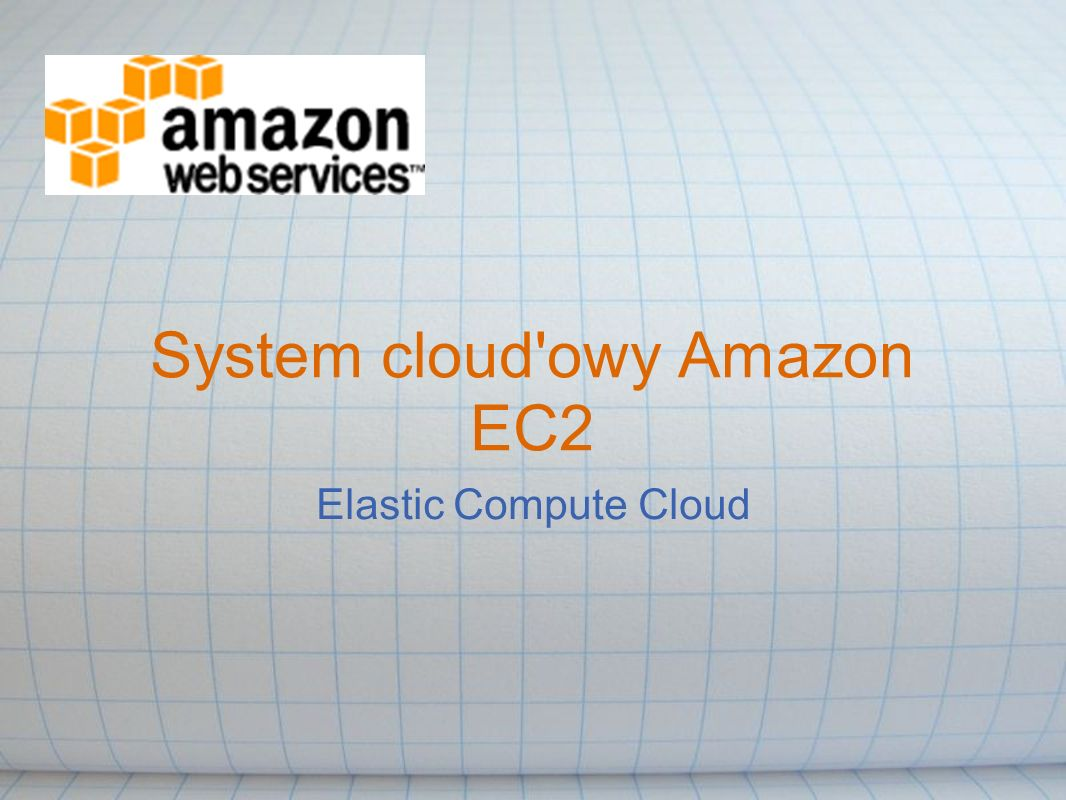 System cloud owy Amazon EC2