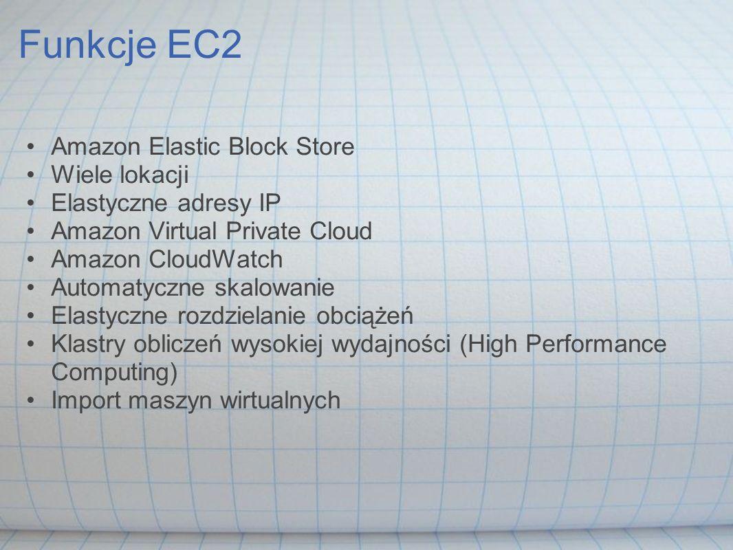 Funkcje EC2 Amazon Elastic Block Store Wiele lokacji