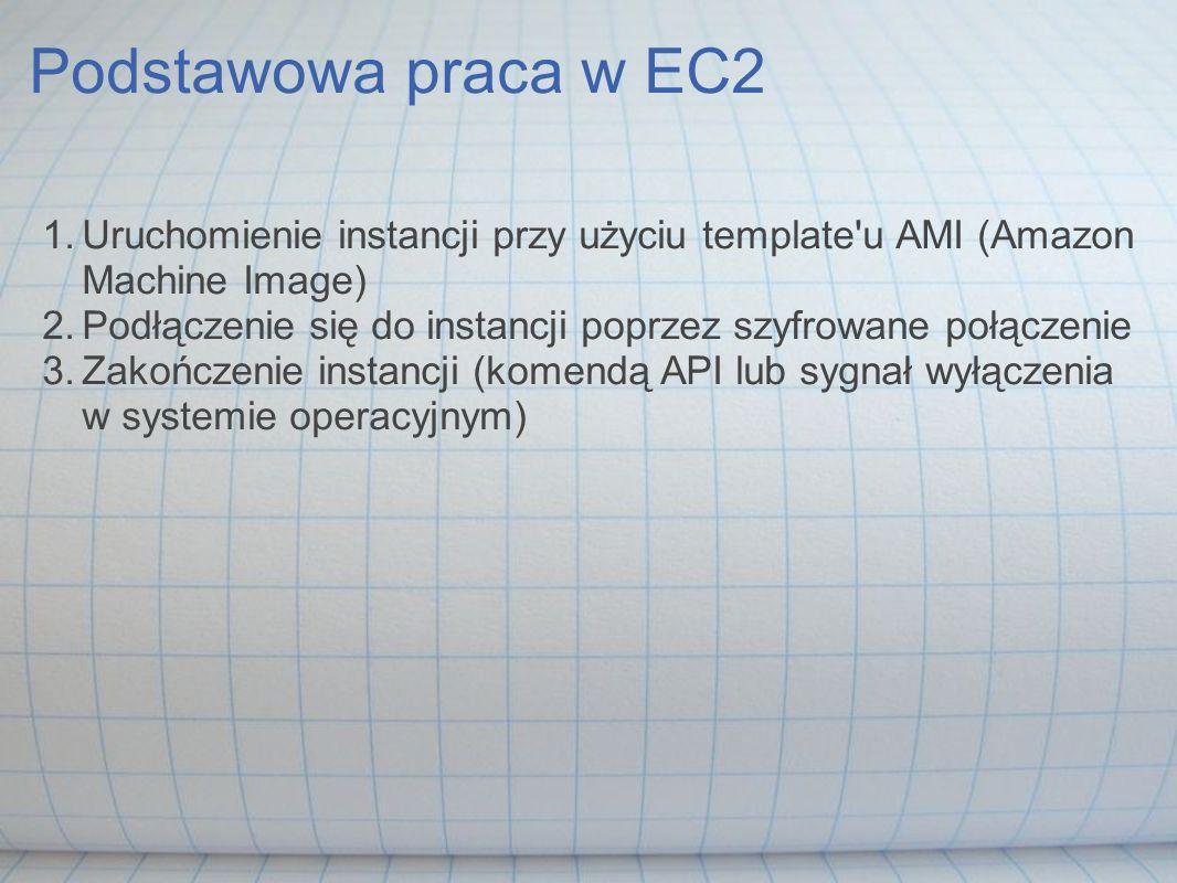 Podstawowa praca w EC2 Uruchomienie instancji przy użyciu template u AMI (Amazon Machine Image)