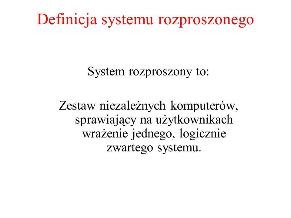 Definicja systemu rozproszonego