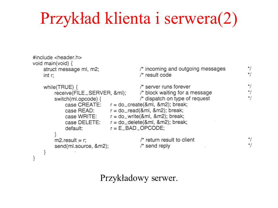 Przykład klienta i serwera(2)