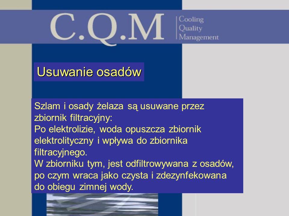 Usuwanie osadówSzlam i osady żelaza są usuwane przez zbiornik filtracyjny: