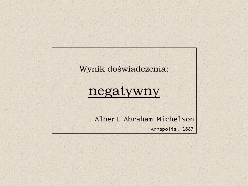 negatywny Wynik doświadczenia: Albert Abraham Michelson