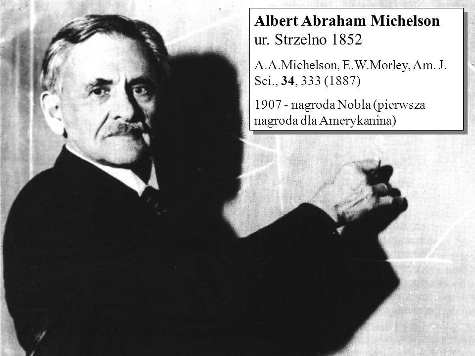Albert Abraham Michelson ur. Strzelno 1852