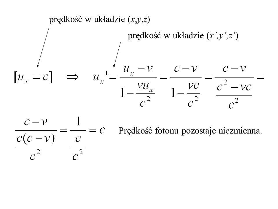 prędkość w układzie (x,y,z)
