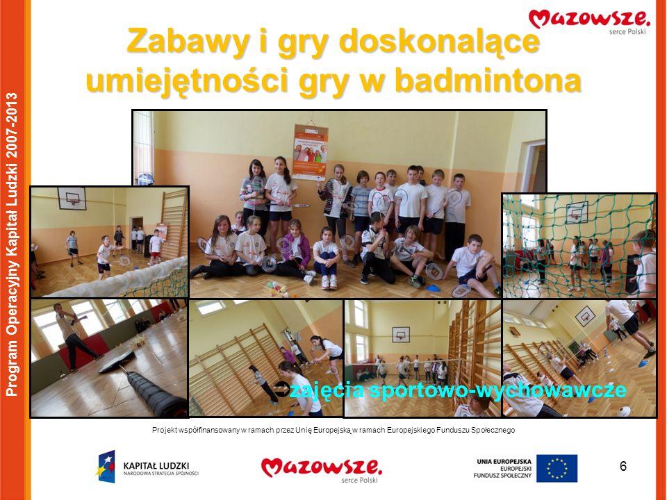 Zabawy i gry doskonalące umiejętności gry w badmintona