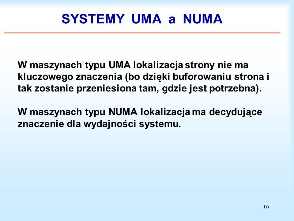 SYSTEMY UMA a NUMA _______________________________________________________________________________________