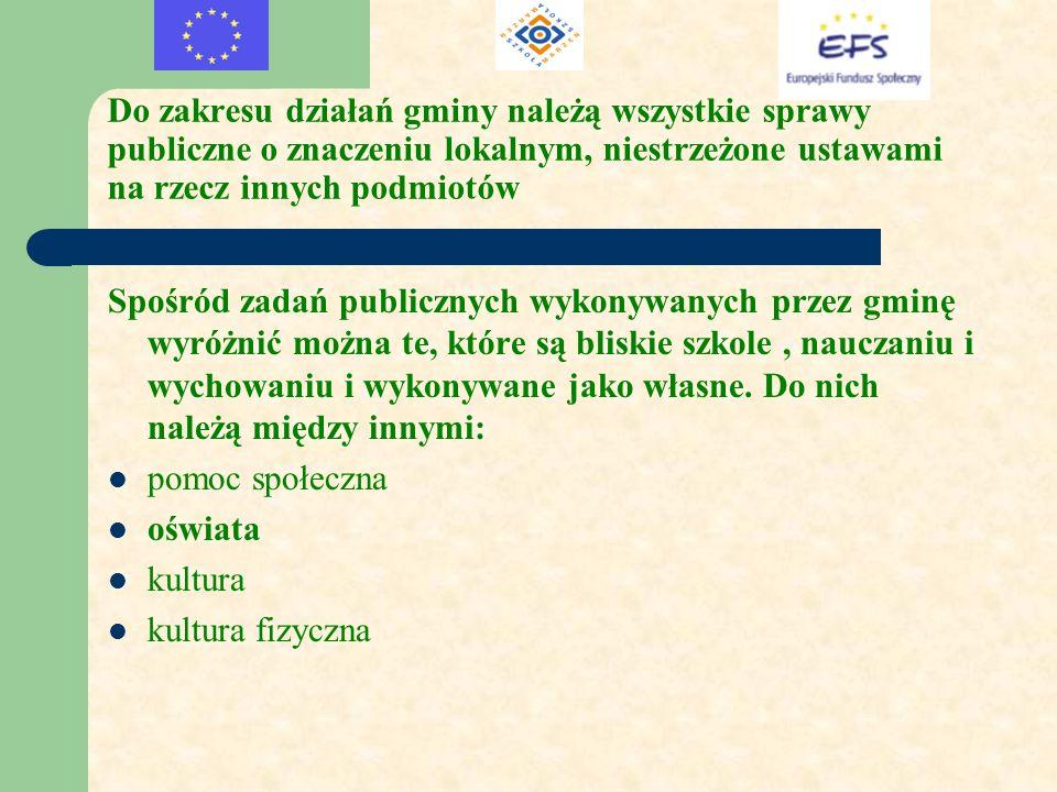 Do zakresu działań gminy należą wszystkie sprawy publiczne o znaczeniu lokalnym, niestrzeżone ustawami na rzecz innych podmiotów