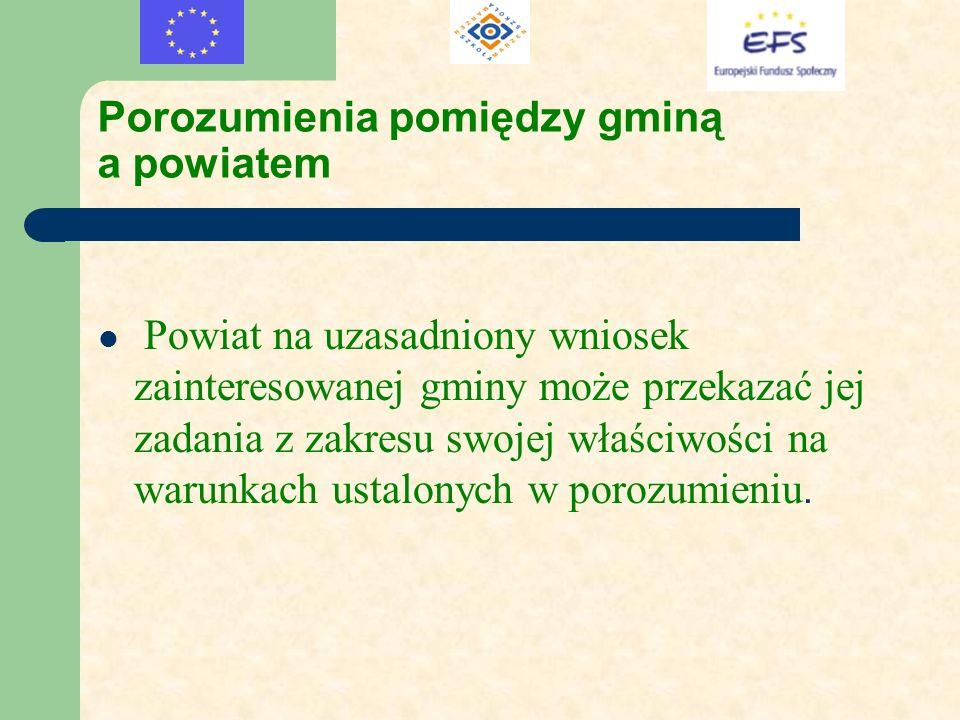Porozumienia pomiędzy gminą a powiatem