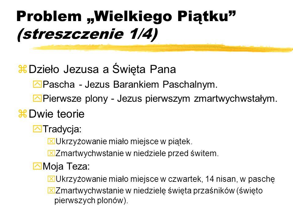 """Problem """"Wielkiego Piątku (streszczenie 1/4)"""
