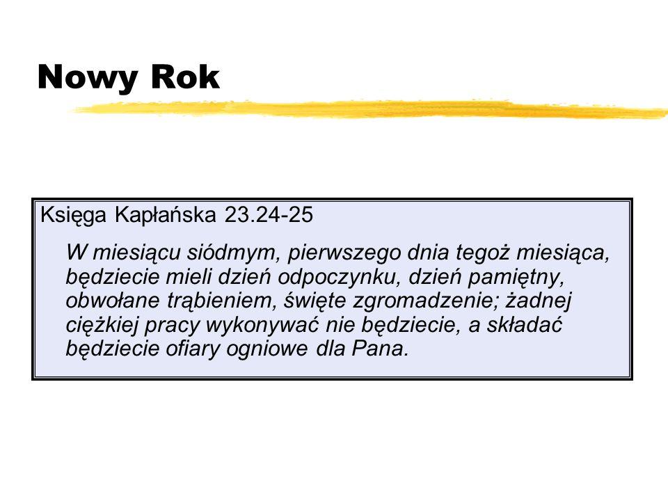 Nowy Rok Księga Kapłańska 23.24-25