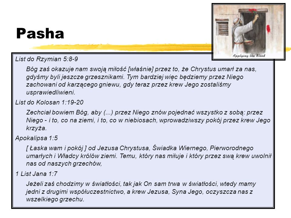 Pasha List do Rzymian 5:8-9