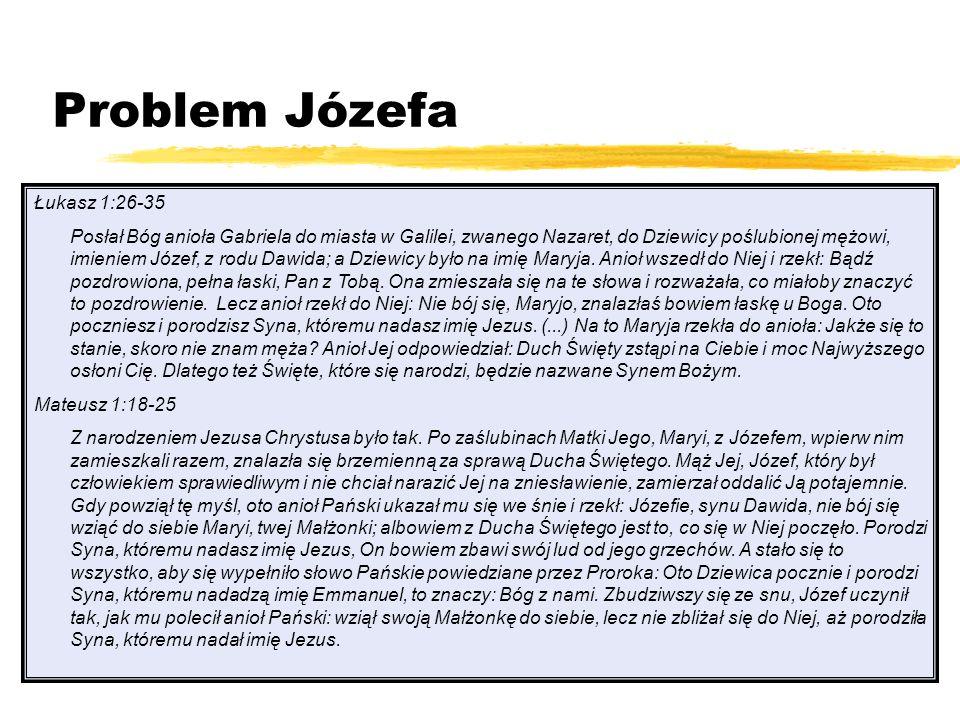 Problem Józefa Łukasz 1:26-35