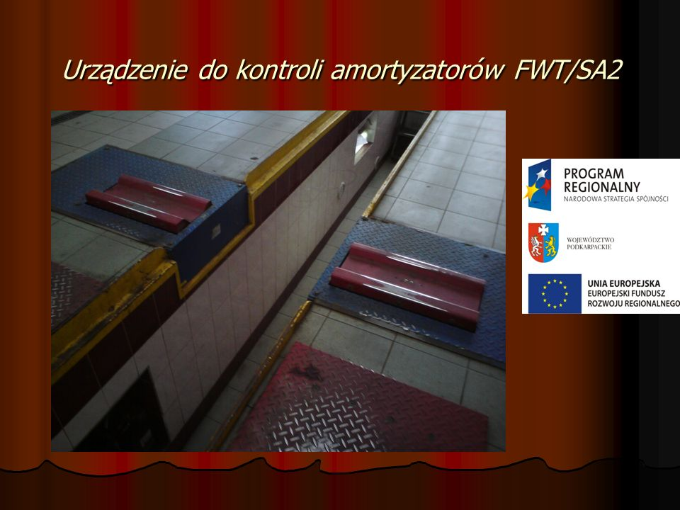 Urządzenie do kontroli amortyzatorów FWT/SA2