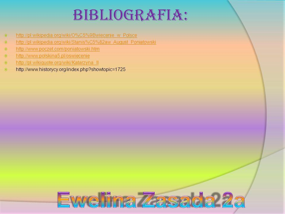 Ewelina Zasada 2a Bibliografia: