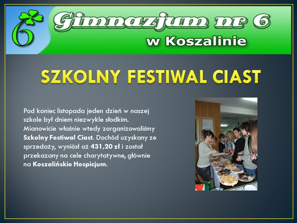 SZKOLNY FESTIWAL CIAST