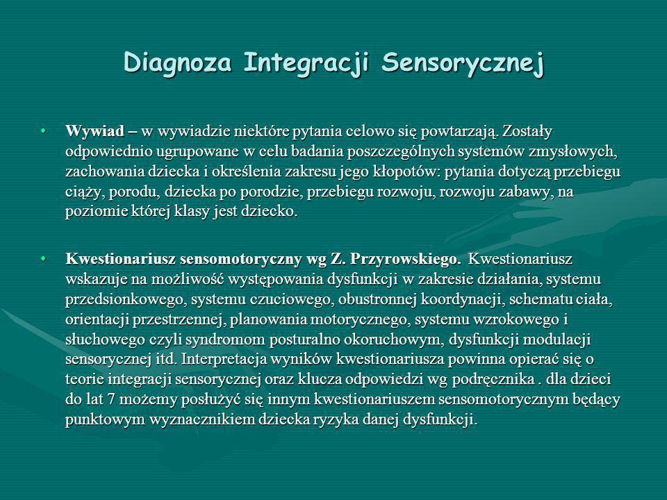 Diagnoza Integracji Sensorycznej