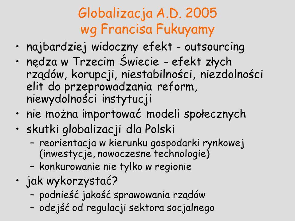 Globalizacja A.D. 2005 wg Francisa Fukuyamy