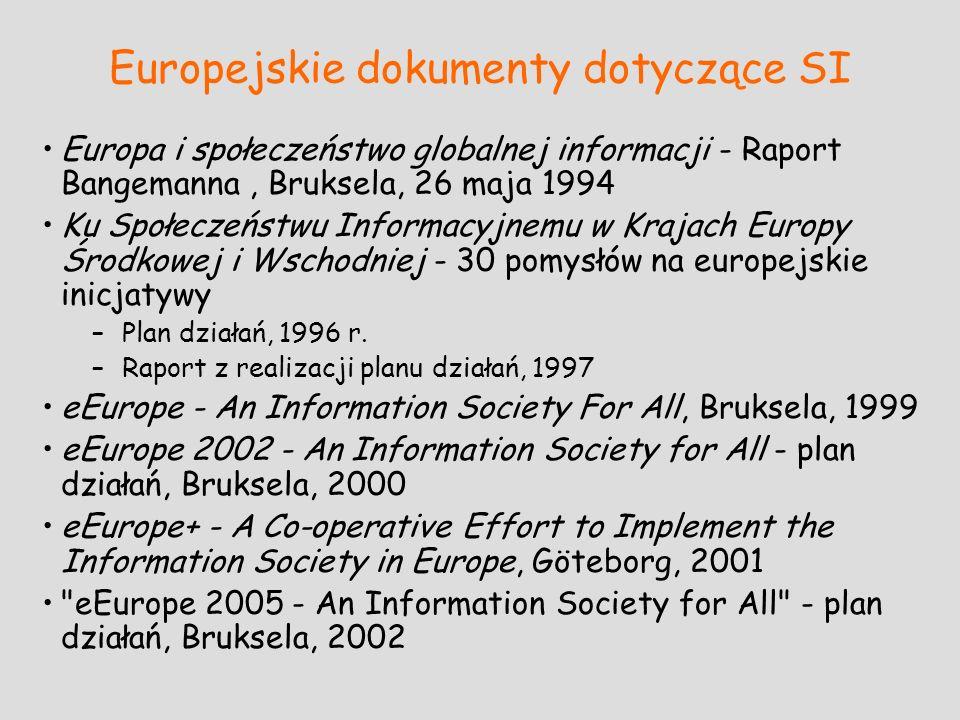 Europejskie dokumenty dotyczące SI