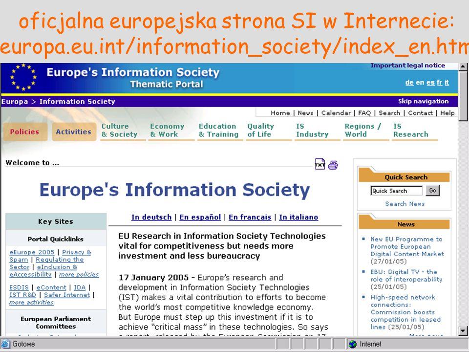 oficjalna europejska strona SI w Internecie: europa. eu