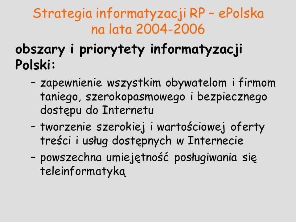 Strategia informatyzacji RP – ePolska na lata 2004-2006