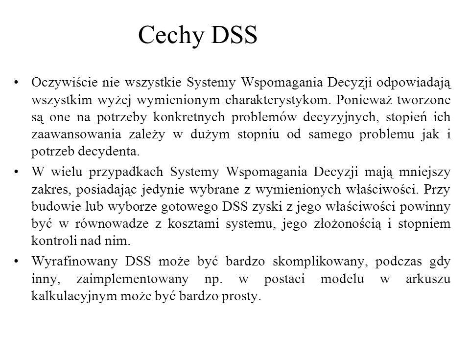 Cechy DSS
