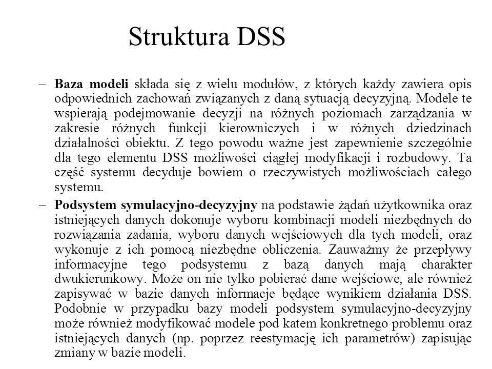Struktura DSS